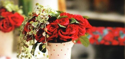 Arrangement roses 14.5cm x 7cm