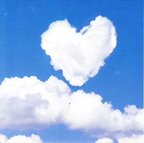 nuage coeur 7.5cm x 7.5cm